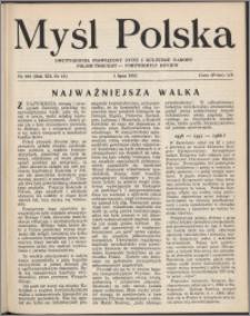 Myśl Polska : dwutygodnik poświęcony życiu i kulturze narodu 1952, R. 12 nr 13 (203)