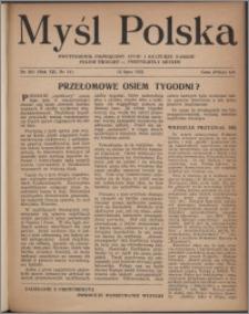 Myśl Polska : dwutygodnik poświęcony życiu i kulturze narodu 1952, R. 12 nr 14 (204)