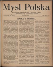 Myśl Polska : dwutygodnik poświęcony życiu i kulturze narodu 1952, R. 12 nr 16 (206)