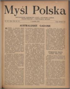 Myśl Polska : dwutygodnik poświęcony życiu i kulturze narodu 1952, R. 12 nr 17 (207)
