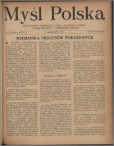 Myśl Polska : dwutygodnik poświęcony życiu i kulturze narodu 1952, R. 12 nr 19 (209)