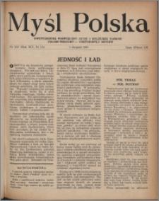 Myśl Polska : dwutygodnik poświęcony życiu i kulturze narodu 1954, R. 14 nr 15 (252)