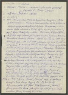 "Chodyko Stefan ps. ""Grunwald',""Topór"", ""Turoń"" [ankieta]"