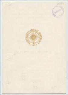[Zaproszenie. Incipit] Rektor i Senat UMK mają zaszczyt zaprosić na uroczystość nadania tytułu doktora honoris causa Karolowi Górskiemu ... 24 kwietnia 1979 r