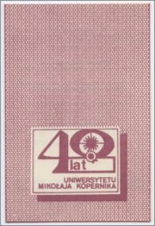 [Zaproszenie. Incipit] Rektor i Senat UMK uprzejmie zapraszają na uroczystość z okazji 40 rocznicy pierwszej inauguracji roku akademickiego ... 5 stycznia 1986 r