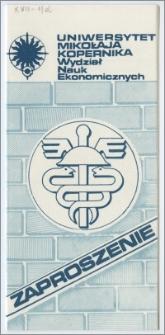 [Zaproszenie. Incipit] Uniwersytet Mikołaja Kopernika ... zaprasza na uroczystość wmurowania aktu erekcyjnego gmachu Wydziału Nauk Ekonomicznych ... 18 sierpnia 1988 r
