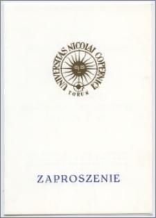 [Zaproszenie. Incipit] Rektor Uniwersytetu Mikołaja Kopernika w Toruniu uprzejmie zapraszają na inaugurację pracy Superkomputera Convex C 120 ... 3 października 1991 roku