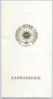 [Zaproszenie. Incipit] Rektor i Senat Uniwersytetu Mikołaja Kopernika w Toruniu mają zaszczyt prosić na uroczystość nadania tytułu Doktora Honoris Causa Pani Dr Marion Gräfin Dönhoff ... 21 czerwca 1991 roku