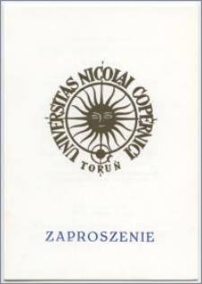[Zaproszenie. Incipit] Rektor i Senat Uniwersytetu Mikołaja Kopernika w Toruniu mają zaszczyt prosić o przybycie na uroczystość nadania tytułu Doktora Honoris Causa dr Yitzhakowi Aradowi ... 7 czerwca 1993 roku