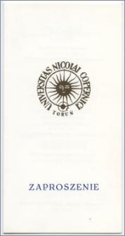 [Zaproszenie. Incipit] Rektor i Senat Uniwersytetu Mikołaja Kopernika w Toruniu mają zaszczyt prosić o przybycie na uroczystość nadania tytułu Doktora Honoris Causa Panu Profesorowi Doktorowi Giovanniemu Spadoliniemu ... 18 czerwca 1993 roku