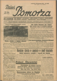 Dzień Pomorza, 1937.11.18, nr 266