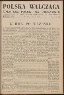 Polska Walcząca - Żołnierz Polski na Obczyźnie 1940.09.28, R. 2 nr 29