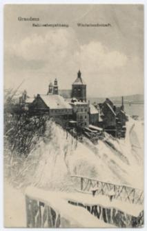 Graudenz. Schlossbergabhang. Winterlandschaft