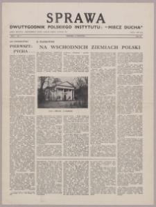 """Sprawa : dwutygodnik Polskiego Instytutu """"Miecz Ducha"""" 1942, R. 1 nr 7"""