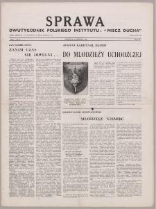 """Sprawa : dwutygodnik Polskiego Instytutu """"Miecz Ducha"""" 1942, R. 1 nr 16"""