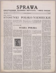 """Sprawa : dwutygodnik Polskiego Instytutu """"Miecz Ducha"""" 1942, R. 1 nr 21"""