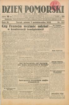 Dzień Pomorski 1932.10.07, R. 4 nr 231