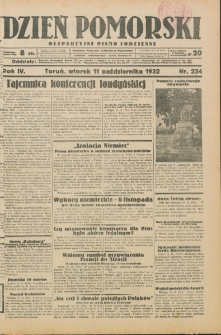 Dzień Pomorski 1932.10.11, R. 4 nr 234