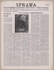"""Sprawa : dwutygodnik Polskiego Instytutu """"Miecz Ducha"""" 1943, R. 2 nr 22"""