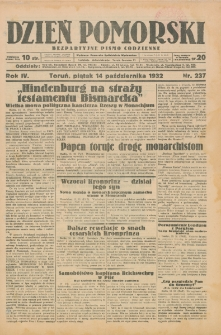 Dzień Pomorski 1932, R. 4, październik