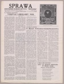 """Sprawa : dwutygodnik Polskiego Instytutu """"Miecz Ducha"""" 1944, R. 3 nr 19"""