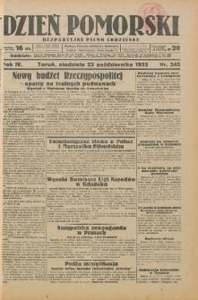 Dzień Pomorski 1932.10.23, R. 4 nr 245