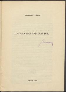 Geneza idei Unii Brzeskiej