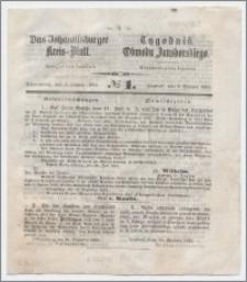 Johannisburger Kreisblatt = Tygodnik Obwodu Jansborskiego 1863 no. 1
