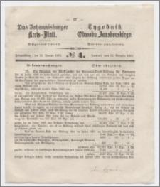 Johannisburger Kreisblatt = Tygodnik Obwodu Jansborskiego 1863 no. 4