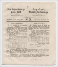 Johannisburger Kreisblatt = Tygodnik Obwodu Jansborskiego 1863 no. 5