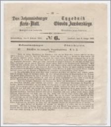 Johannisburger Kreisblatt = Tygodnik Obwodu Jansborskiego 1863 no. 6