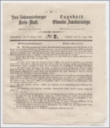 Johannisburger Kreisblatt = Tygodnik Obwodu Jansborskiego 1863 no. 7