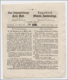 Johannisburger Kreisblatt = Tygodnik Obwodu Jansborskiego 1863 no. 10