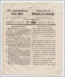 Johannisburger Kreisblatt = Tygodnik Obwodu Jansborskiego 1863 no. 13