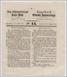 Johannisburger Kreisblatt = Tygodnik Obwodu Jansborskiego 1863 no. 14