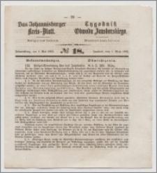 Johannisburger Kreisblatt = Tygodnik Obwodu Jansborskiego 1863 no. 18
