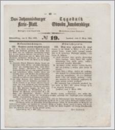 Johannisburger Kreisblatt = Tygodnik Obwodu Jansborskiego 1863 no. 19