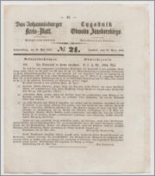 Johannisburger Kreisblatt = Tygodnik Obwodu Jansborskiego 1863 no. 21