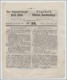 Johannisburger Kreisblatt = Tygodnik Obwodu Jansborskiego 1863 no. 22