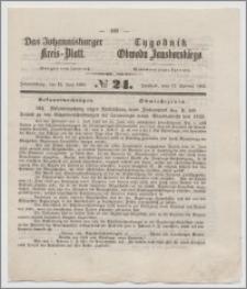 Johannisburger Kreisblatt = Tygodnik Obwodu Jansborskiego 1863 no. 24