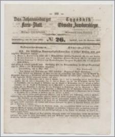 Johannisburger Kreisblatt = Tygodnik Obwodu Jansborskiego 1863 no. 26