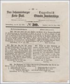 Johannisburger Kreisblatt = Tygodnik Obwodu Jansborskiego 1863 no. 30