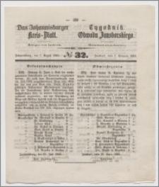 Johannisburger Kreisblatt = Tygodnik Obwodu Jansborskiego 1863 no. 32