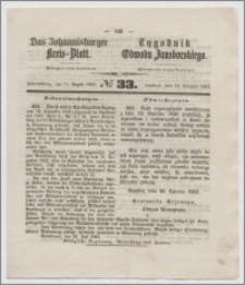 Johannisburger Kreisblatt = Tygodnik Obwodu Jansborskiego 1863 no. 33