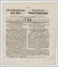Johannisburger Kreisblatt = Tygodnik Obwodu Jansborskiego 1863 no. 34