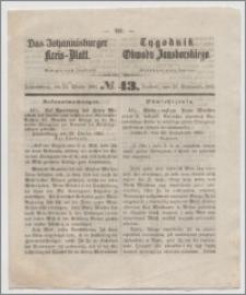 Johannisburger Kreisblatt = Tygodnik Obwodu Jansborskiego 1863 no. 43