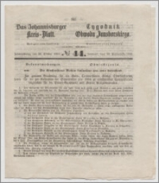 Johannisburger Kreisblatt = Tygodnik Obwodu Jansborskiego 1863 no. 44
