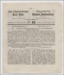 Johannisburger Kreisblatt = Tygodnik Obwodu Jansborskiego 1863 no. 47