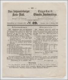 Johannisburger Kreisblatt = Tygodnik Obwodu Jansborskiego 1863 no. 49
