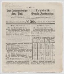 Johannisburger Kreisblatt = Tygodnik Obwodu Jansborskiego 1863 no. 50